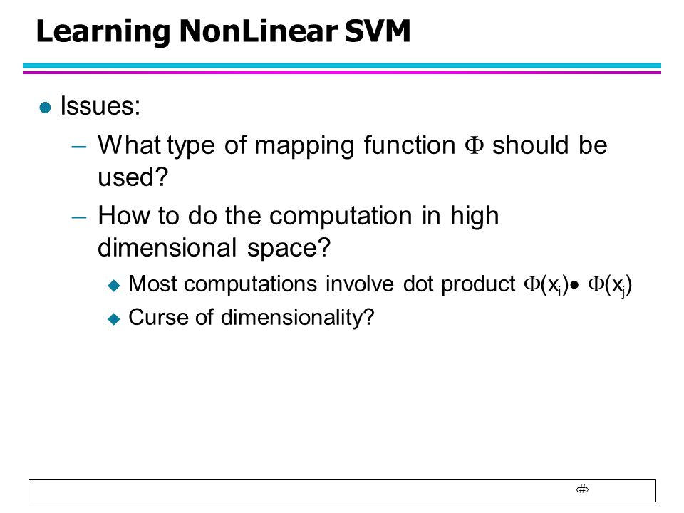 Learning NonLinear SVM