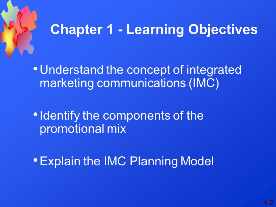 Chapter 1 - Learning Objectives
