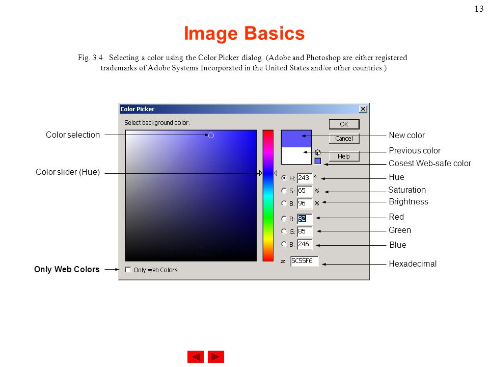 34 Selecting A Color Using The Picker Dialog Adobe