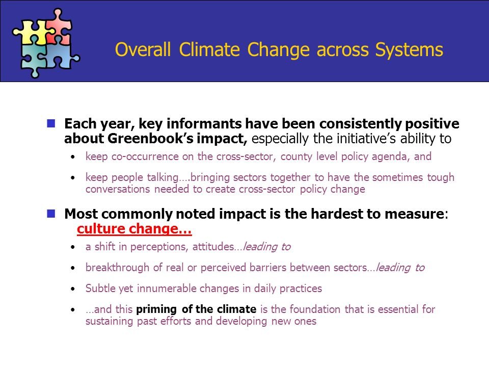 Overall Climate Change across Systems