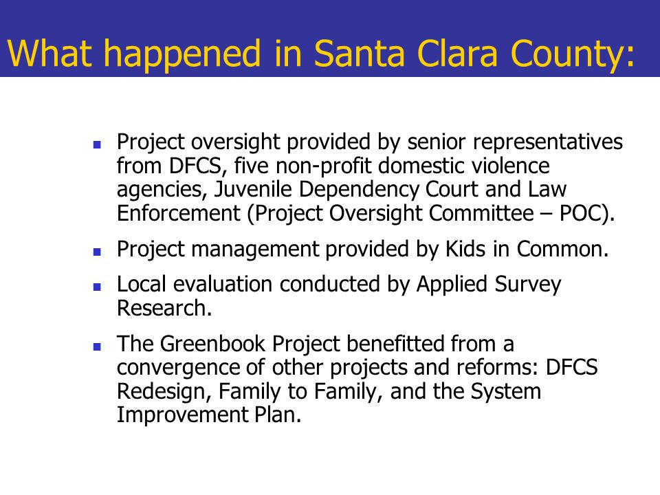 What happened in Santa Clara County: