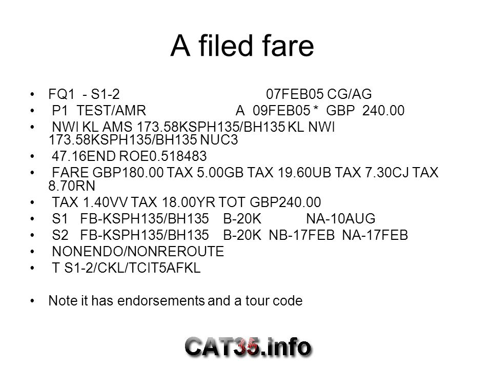 A filed fare FQ1 - S1-2 07FEB05 CG/AG
