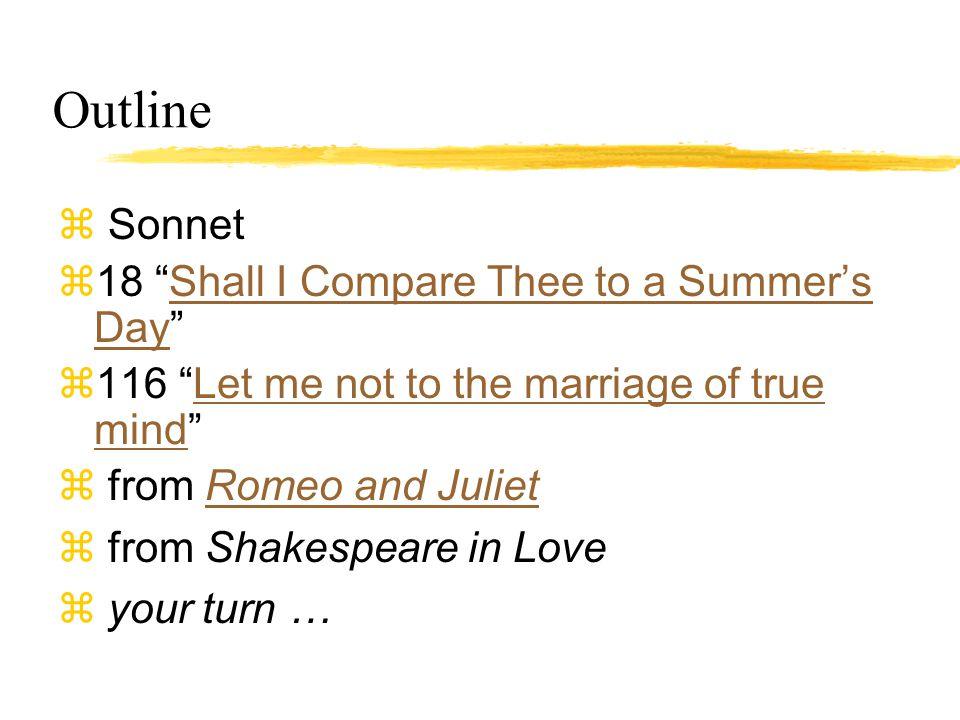 sonnet outline