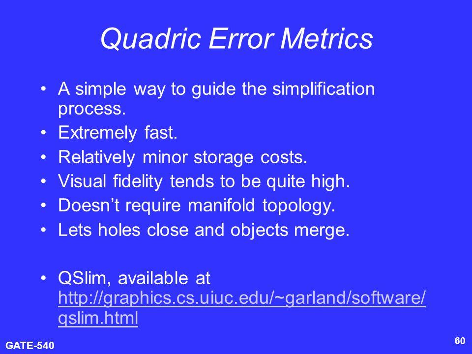 3D Model Simplification (GATE-540) - ppt video online download