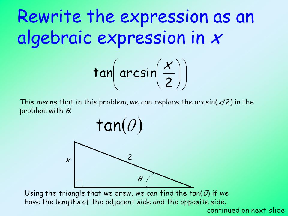 Inverse Trigonometric Functions - ppt video online download