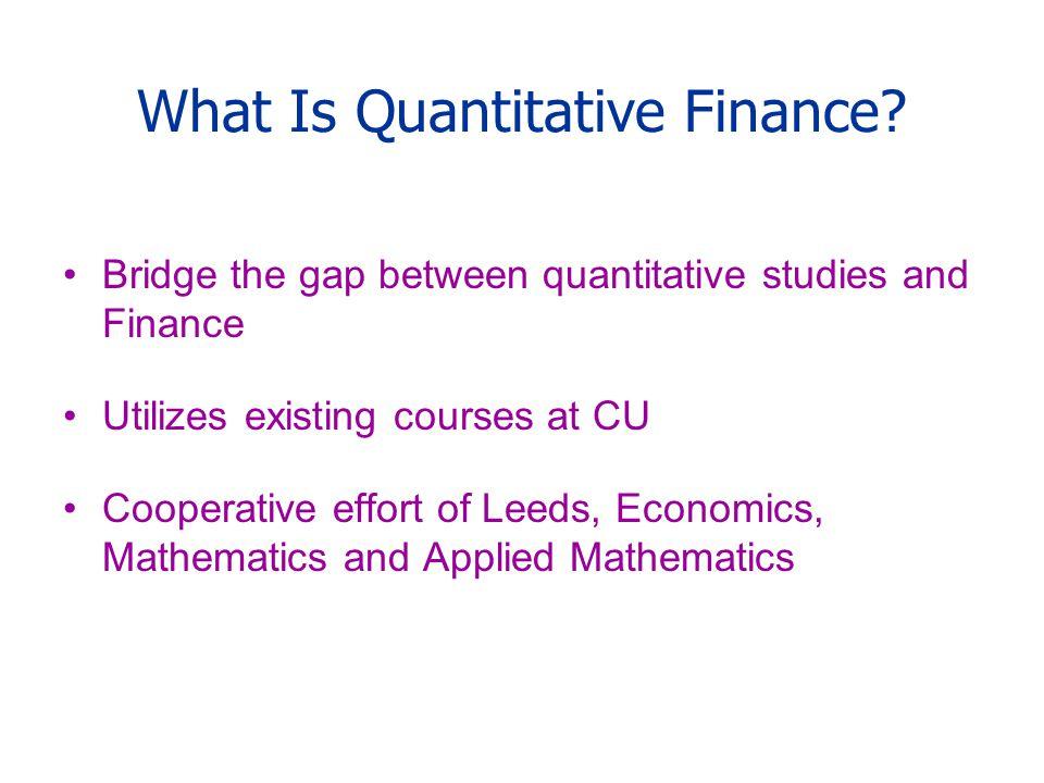 Quantitative Finance Certificate Program Ppt Download