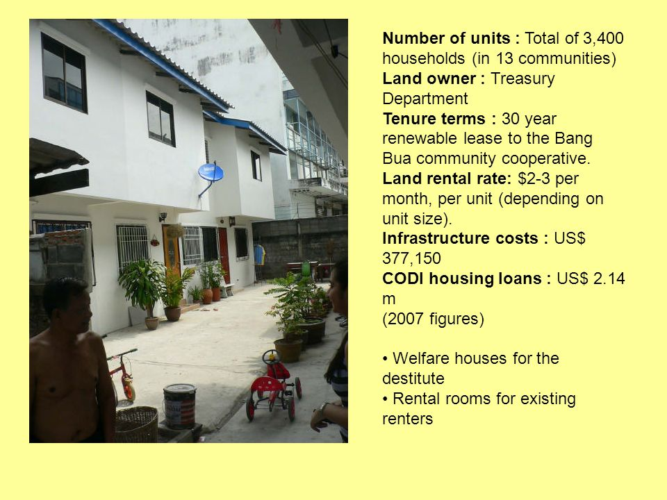 Number of units : Total of 3,400 households (in 13 communities)