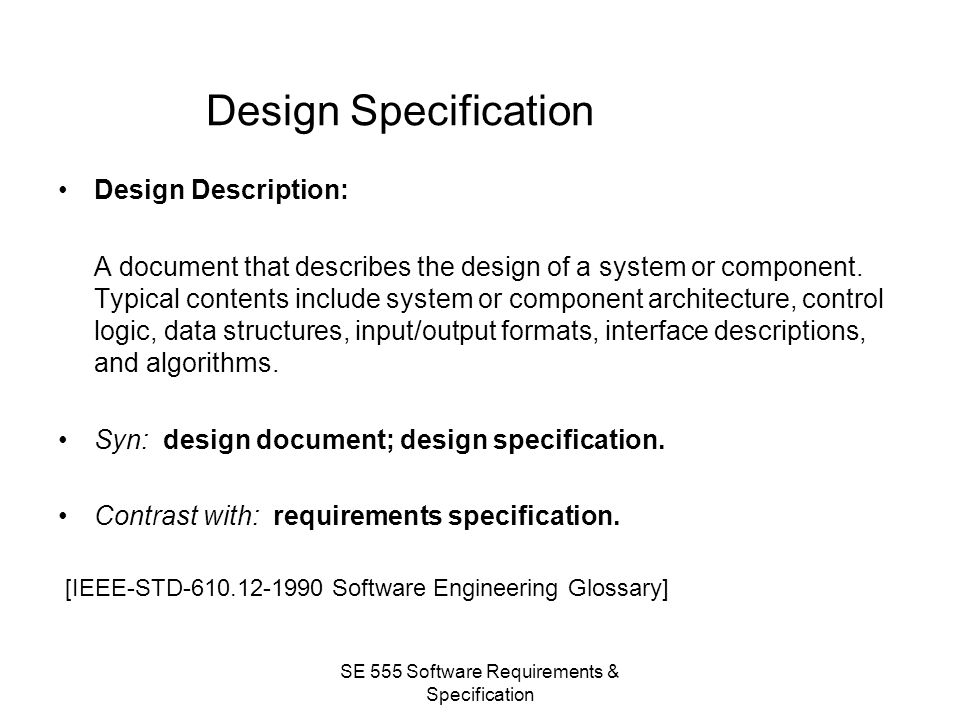 Se 555 Software Requirements Specifications Introduction Ppt Video Online Download