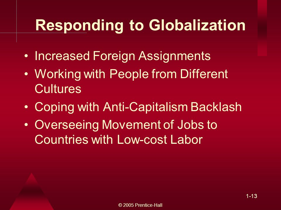 Responding to Globalization