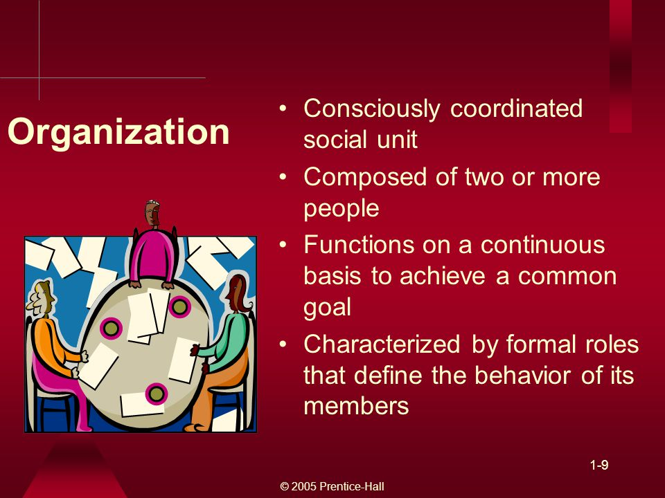 Organization Consciously coordinated social unit
