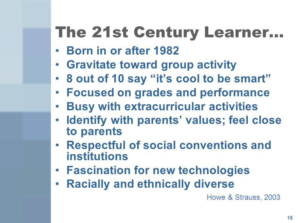 The 21st Century Learner…