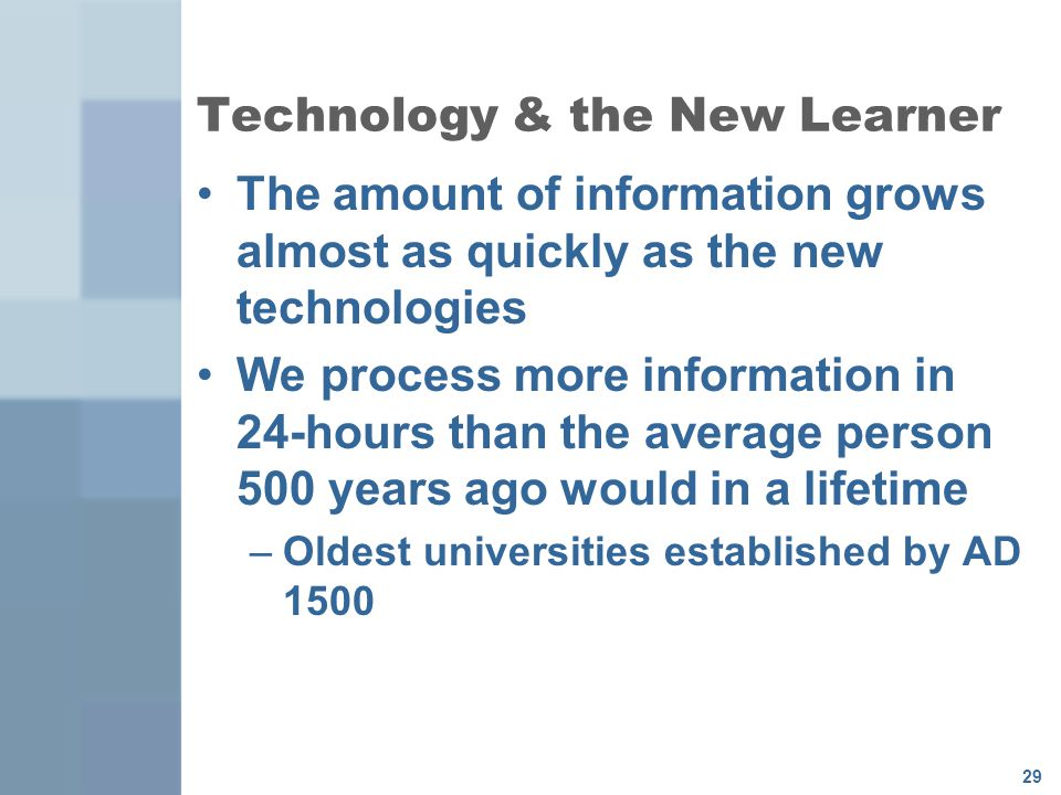Technology & the New Learner