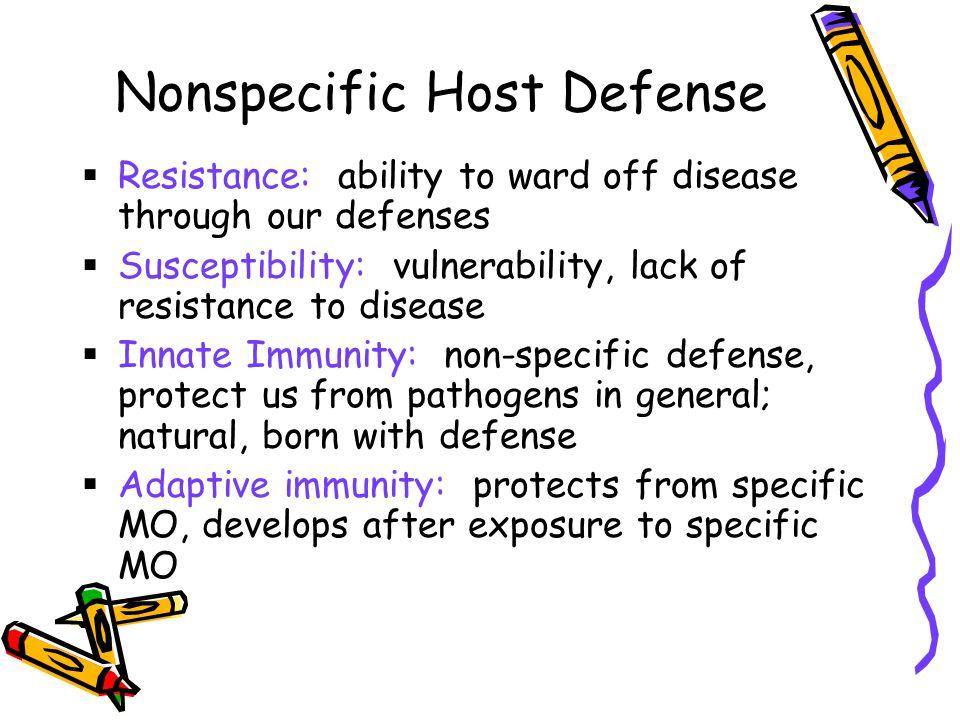 2 Nonspecific Host Defense