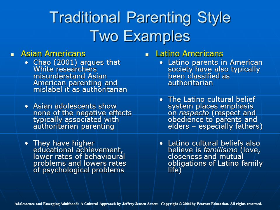 parenting styles american Asian