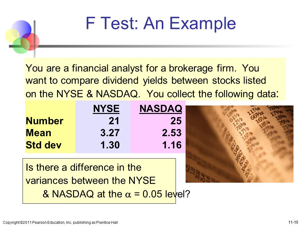 F Test: An Example
