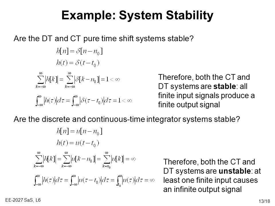 Example: System Stability
