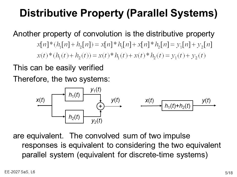 Distributive Property (Parallel Systems)