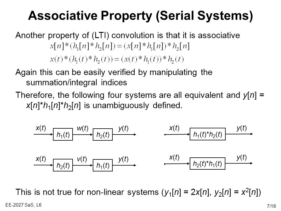 Associative Property (Serial Systems)