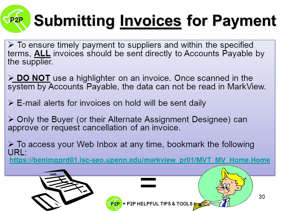 BEN Helps PP PROCURETOPAY Presents The Procure To Pay Life - Submitting invoices for payment
