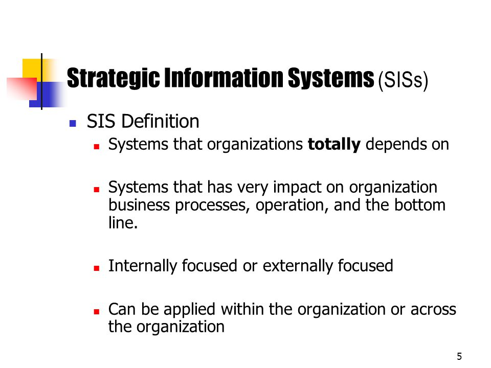 Strategic Information Systems (SISs)