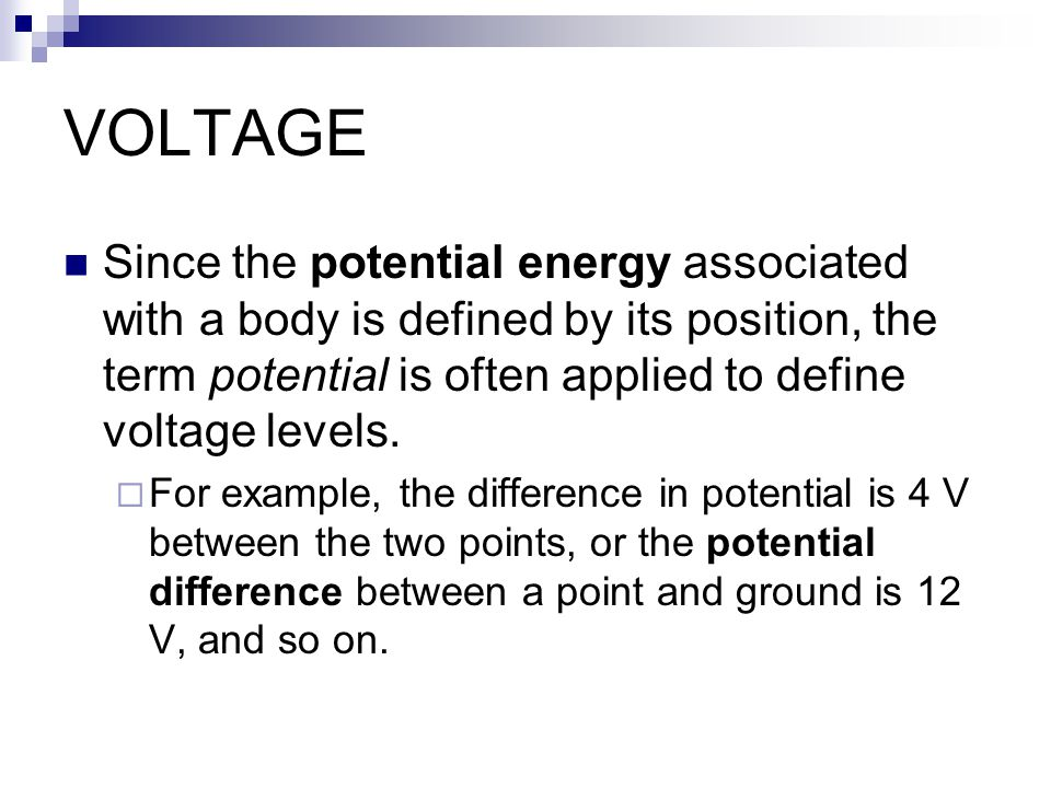 voltage is defined as