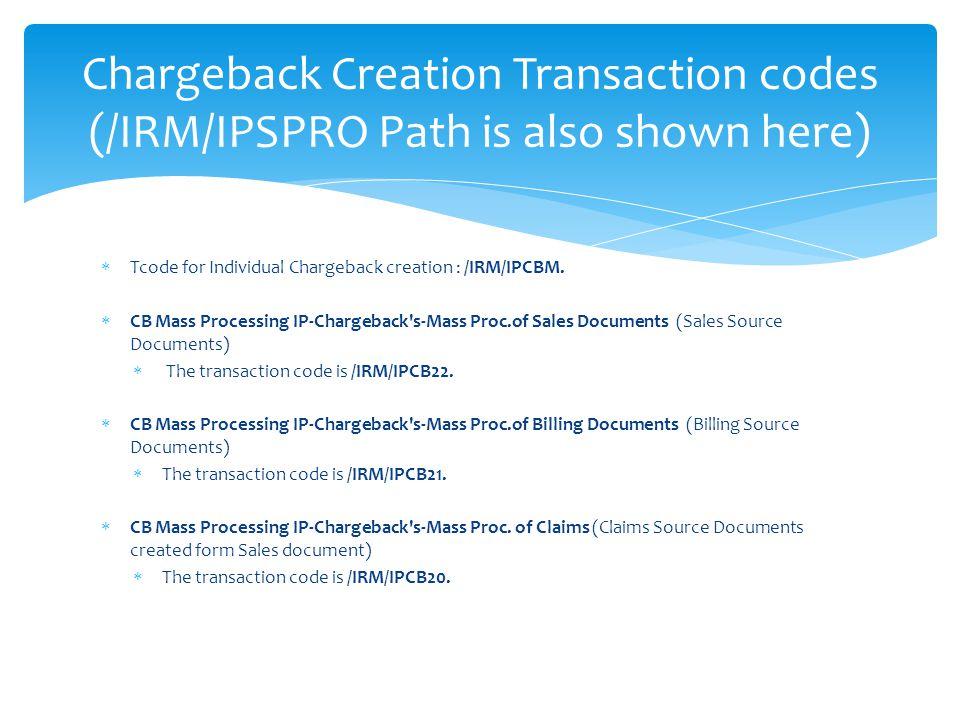 Vistex Chargeback /IRM/IPALLMENU - ppt video online download