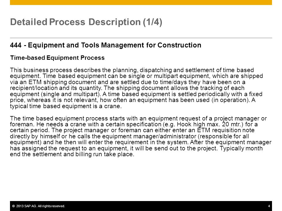 Detailed Process Description (1/4)