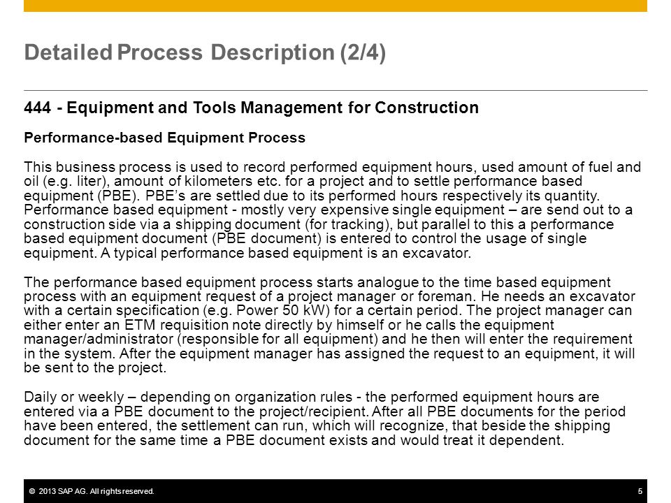 Detailed Process Description (2/4)