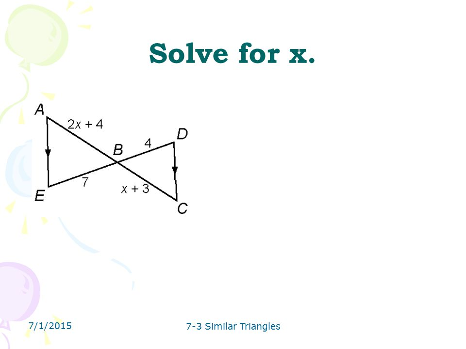 similar triangles problem solving