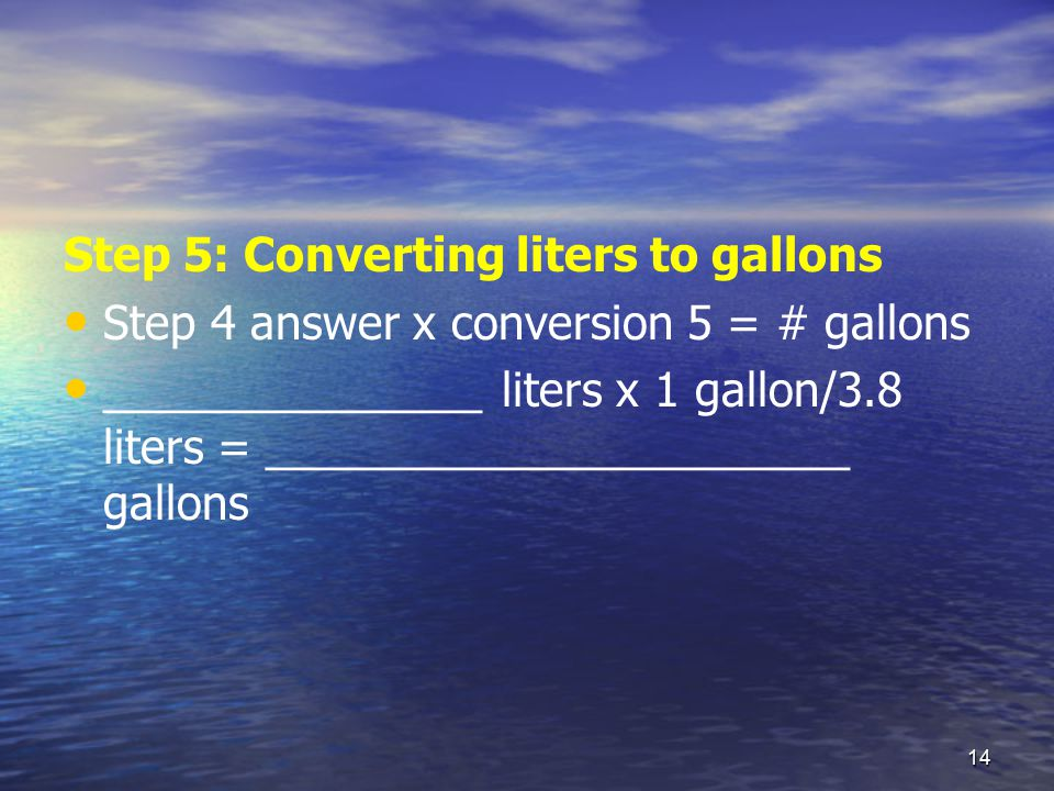 convert 3 liters to gallons