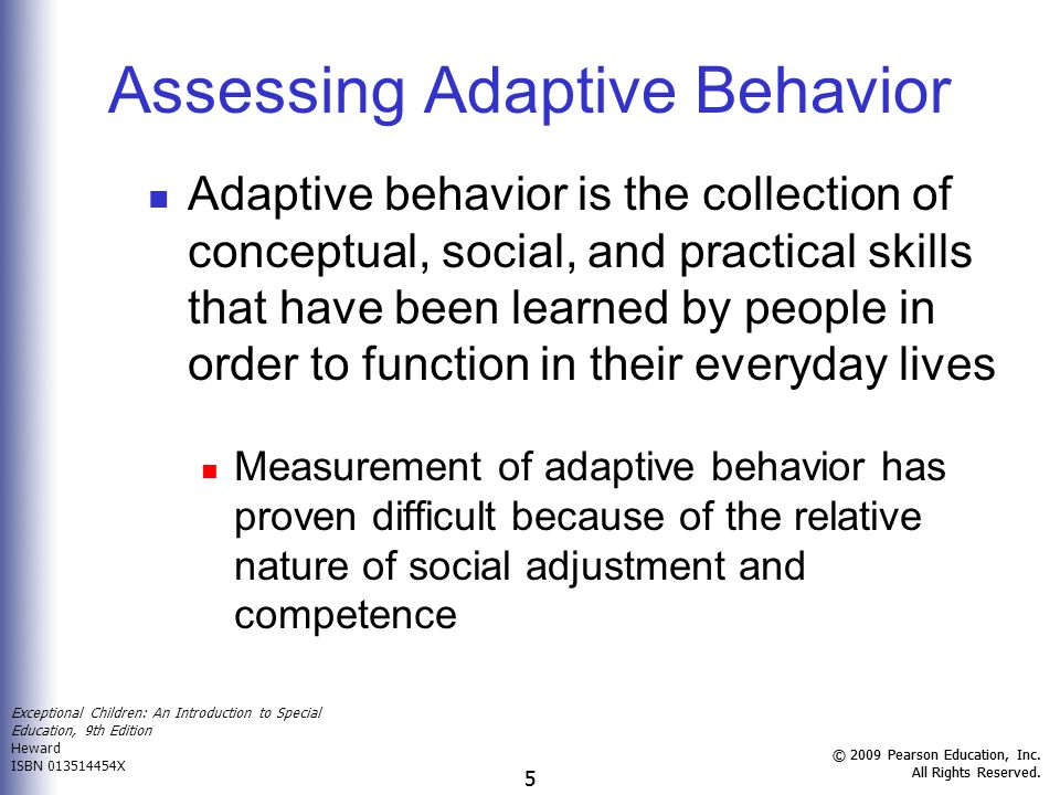 Assessing Adaptive Behavior