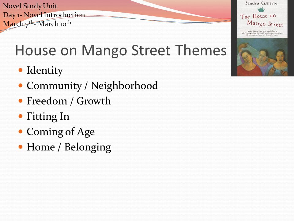 the house on mango street themes by chapter