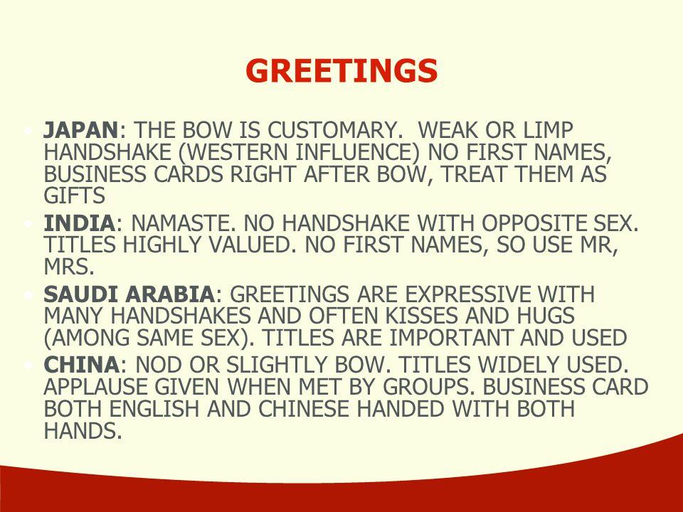 International business comm 321 intercultural communication ppt greetings m4hsunfo