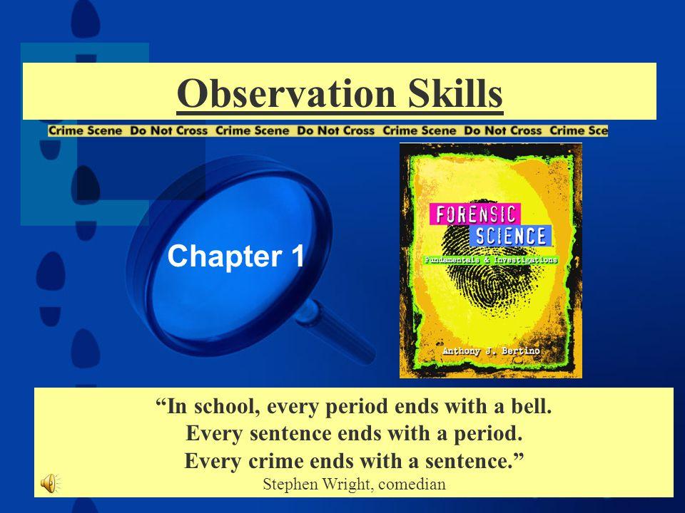 Observation Skills Chapter 1 Ppt Download