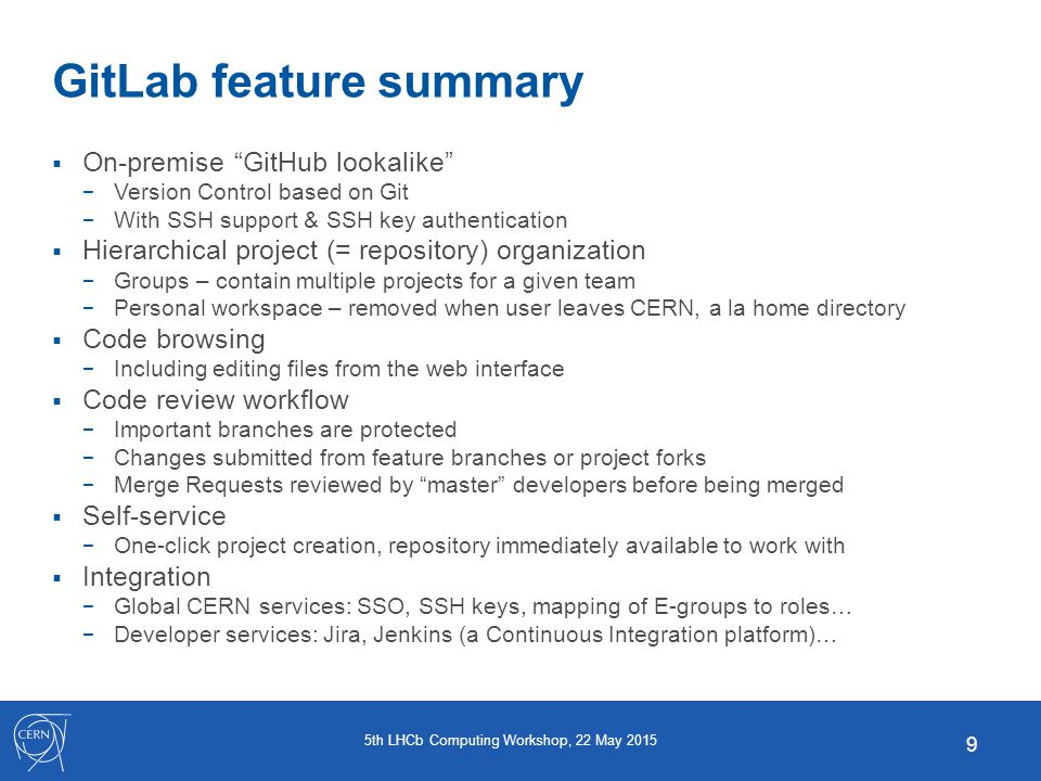 Update on Version Control Systems: GitLab, SVN, Git, Trac, CERNforge