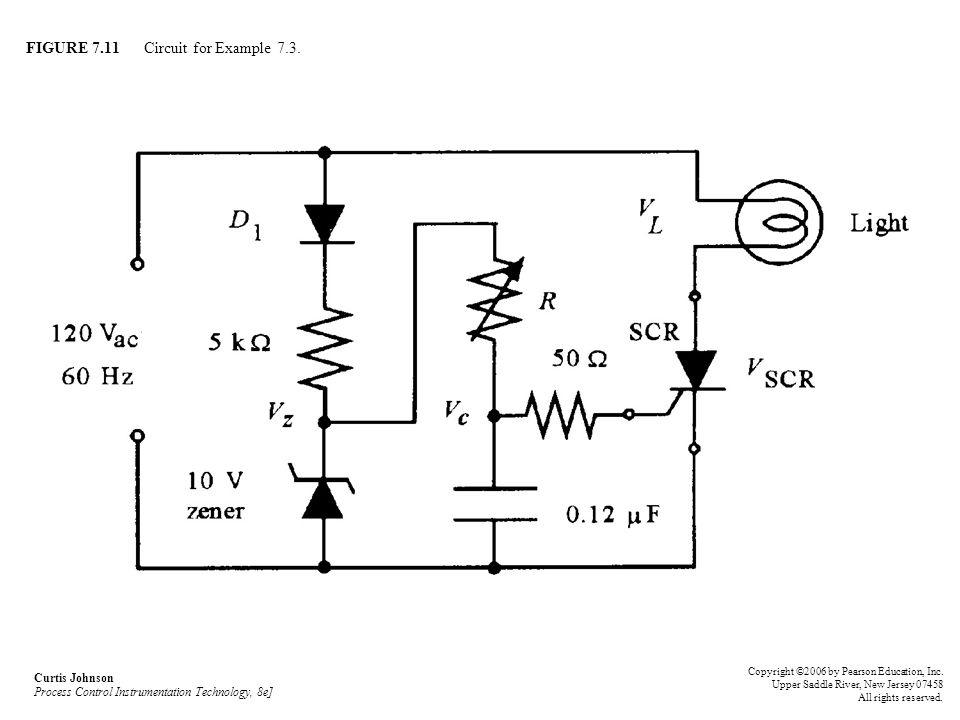 FIGURE 7.11 Circuit for Example 7.3.