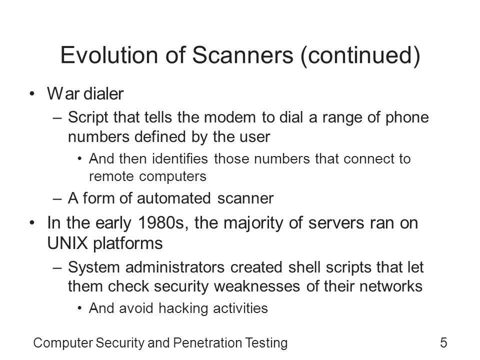 Evolution of Scanners (continued)