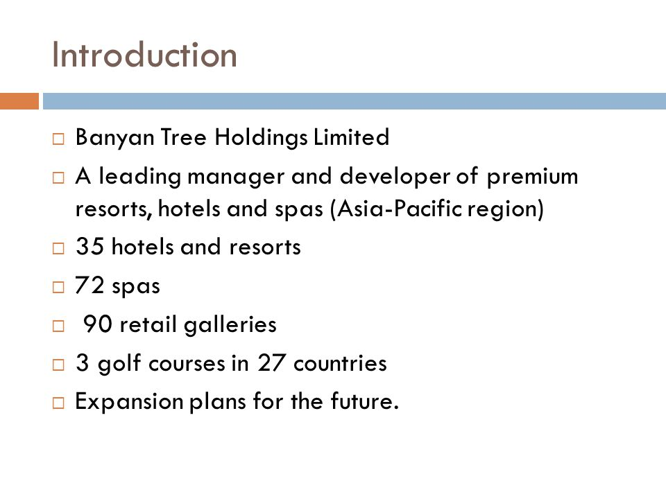 banyan tree hotels and resorts case study