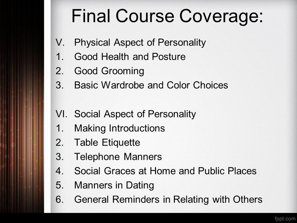 social aspect of personality development