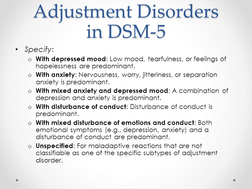 30 Adjustment Disorders ...