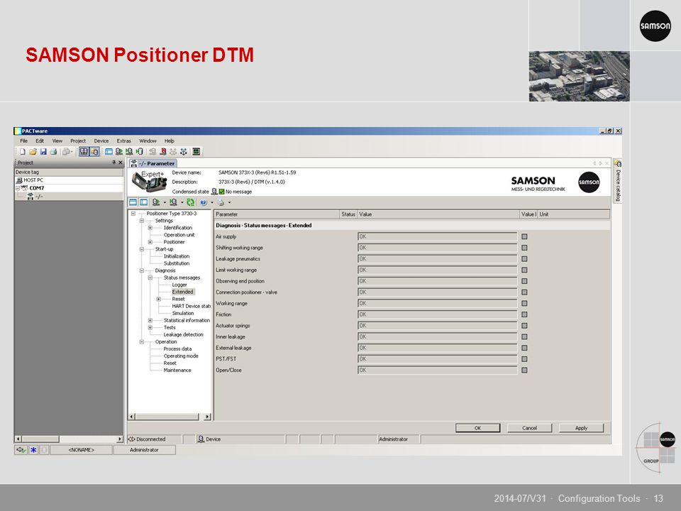 Configuration Tools Product Management and Marketing • Positioners