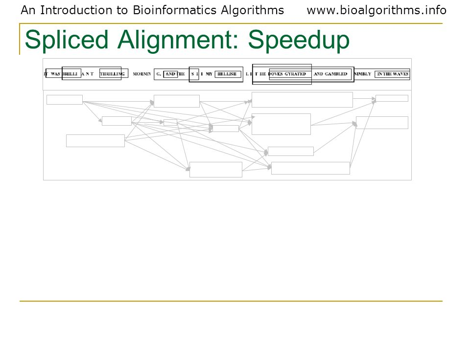 Spliced Alignment: Speedup