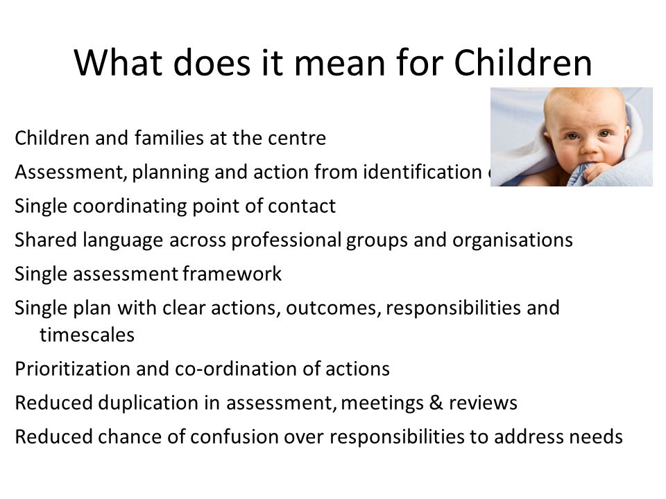 What does it mean for Children