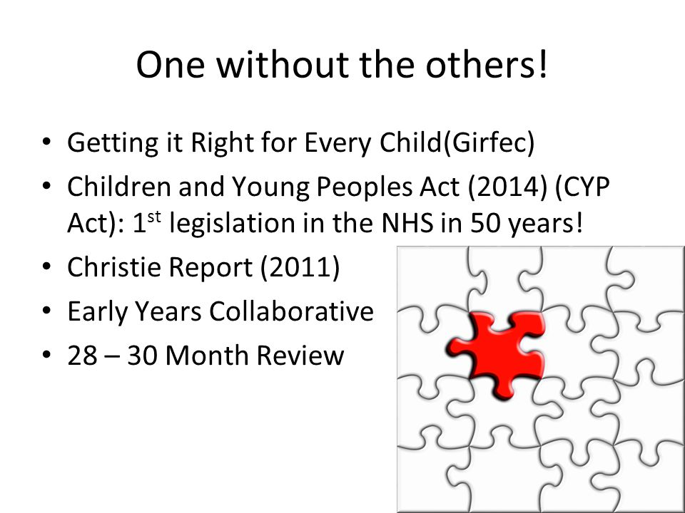 One without the others! Getting it Right for Every Child(Girfec)