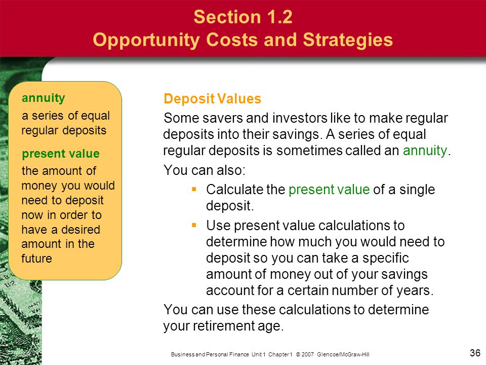 37 Business And Personal Finance Unit 1 Chapter 2007 Glencoe Mcgraw Hill