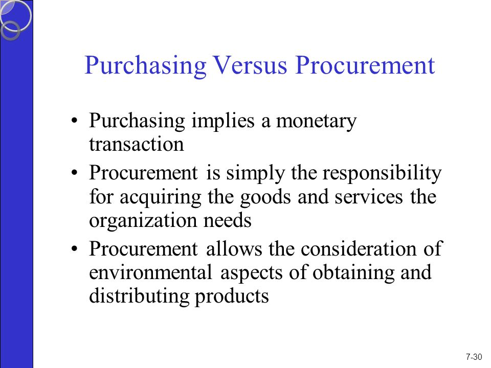 procurement of goods and services pdf