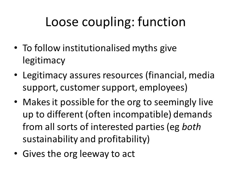 Loose coupling: function