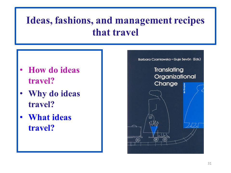 Ideas, fashions, and management recipes that travel