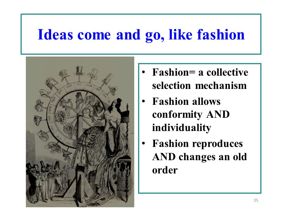 Ideas come and go, like fashion