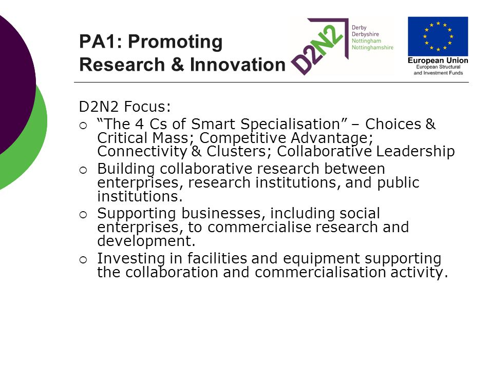 PA1: Promoting Research & Innovation
